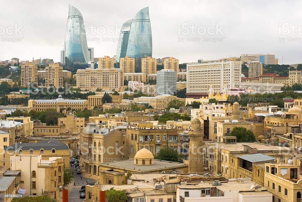 View of old city Baku stock photo