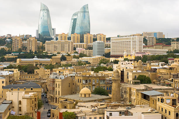 View of old city Baku stock photo