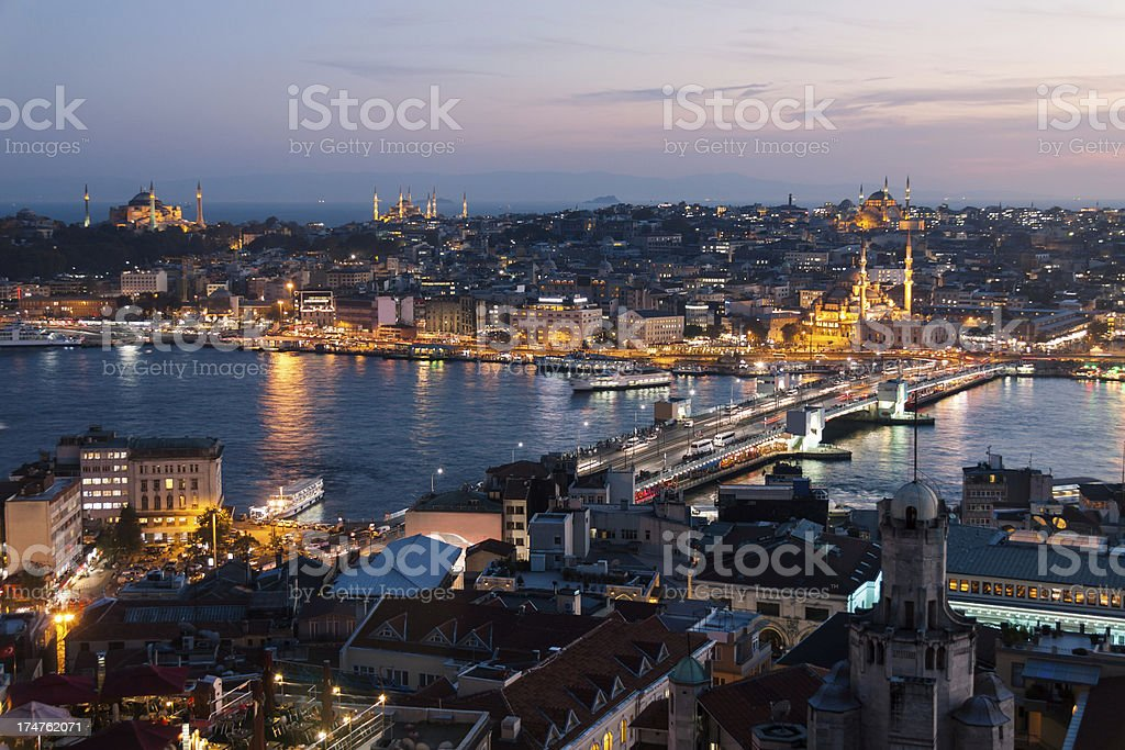 View of old Istanbul royalty-free stock photo