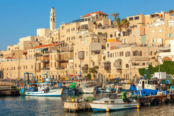 View of old Jaffa in Israel. stock photo