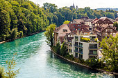 View of Old Town in Bern, Switzerland.