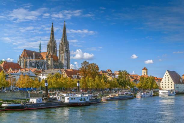 Blick auf die Altstadt von Regensburg, Deutschland – Foto
