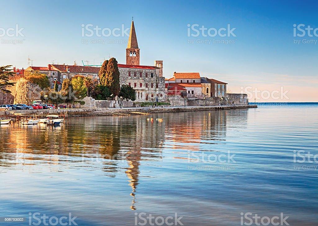 View of old town Porec, Croatia stock photo