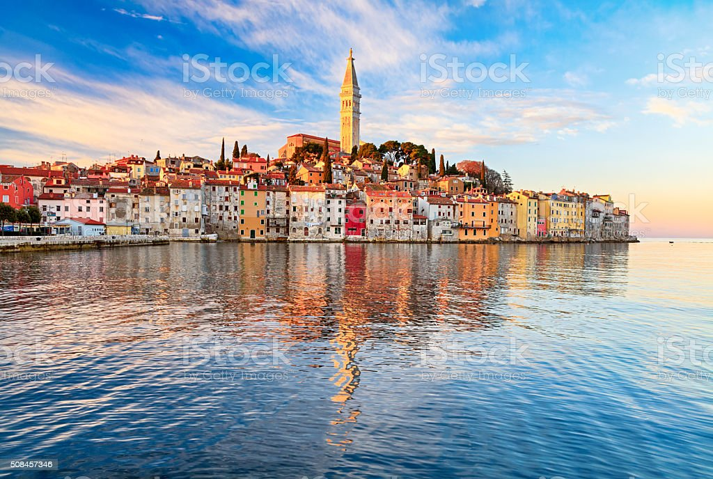 View of old town Rovinj, Croatia