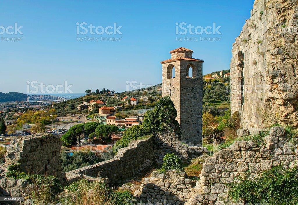Ruinas de vista de la ciudad antigua - foto de stock
