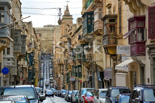 istock A view of old Valletta street with a residental houses, Malta. 1081821164