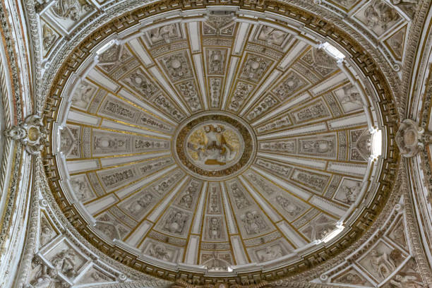View of one of the roofs in the Mosque–Cathedral of Córdoba stock photo