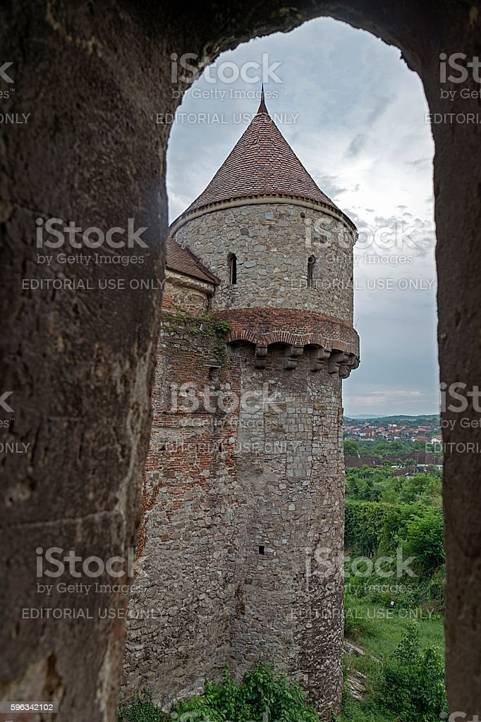 View of one part from Corvin castle royalty-free stock photo