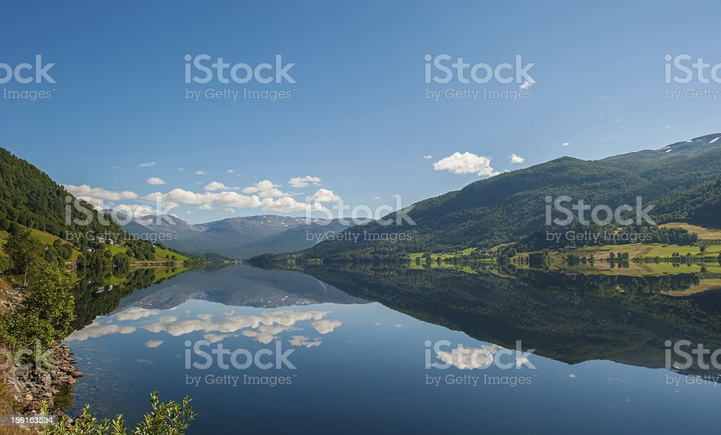 View of Oppheimsvatnet, Voss, Norway royalty-free stock photo