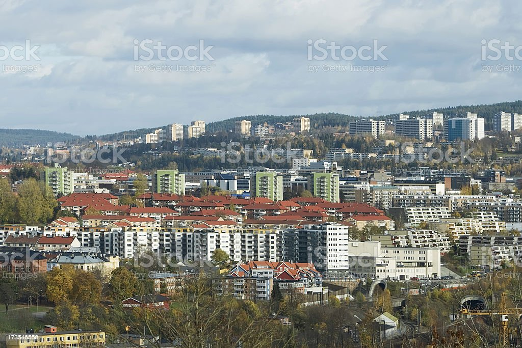 View of Oslo from Ekeberg. royalty-free stock photo