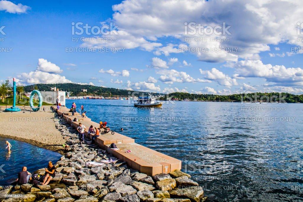 View of Oslo, Norway stock photo
