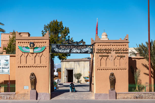view of Ouarzazate cinema museum front door stock photo