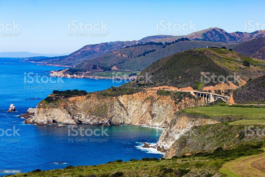 Vista de Pacific Coast Highway, Big Sur, California, USA - foto de stock