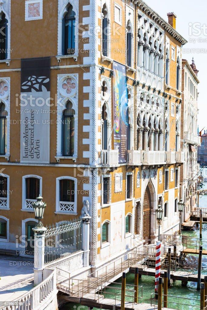 view of palazzo cavalli franchetti in Venice stock photo
