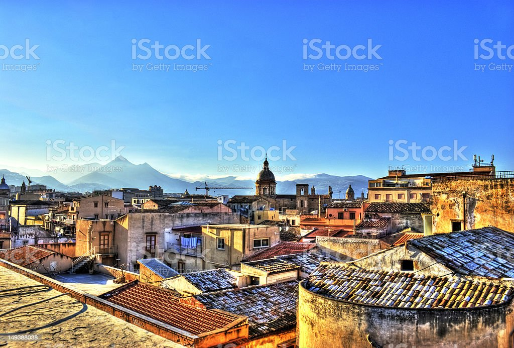 View of Palermo in the HDR royalty-free stock photo