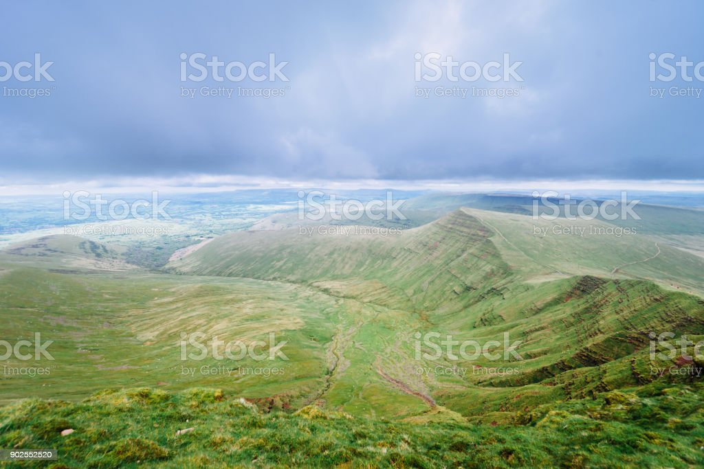 View of Pan Y Fan in Brecon Beacons, Wales stock photo