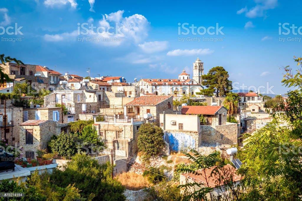 View of Pano Lefkara village in Larnaca district, Cyprus stock photo