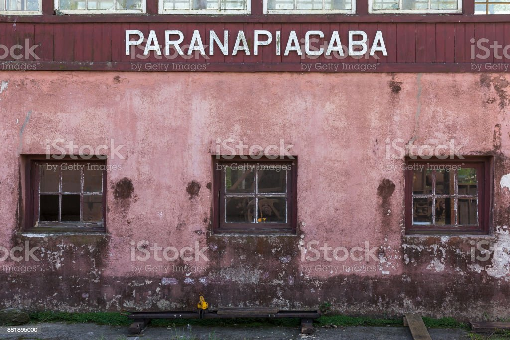 View of Paranapiacaba, district of Santo Andre - SP - Brazil stock photo