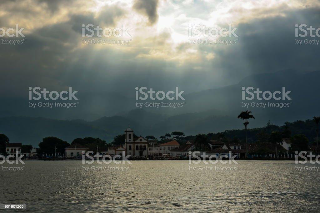 View of Paraty, Rio de Janeiro, Brazil stock photo
