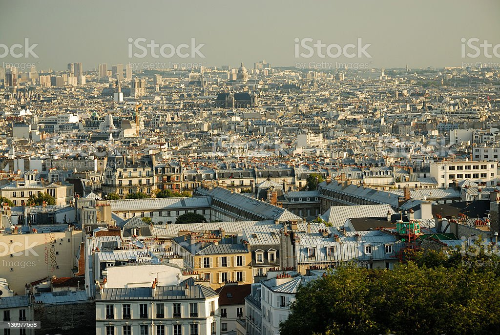 View of Paris from Montmartre, close-up royalty-free stock photo