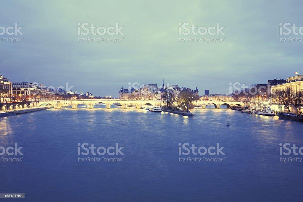View of Paris, Île de la Cité and Pont Neuf royalty-free stock photo