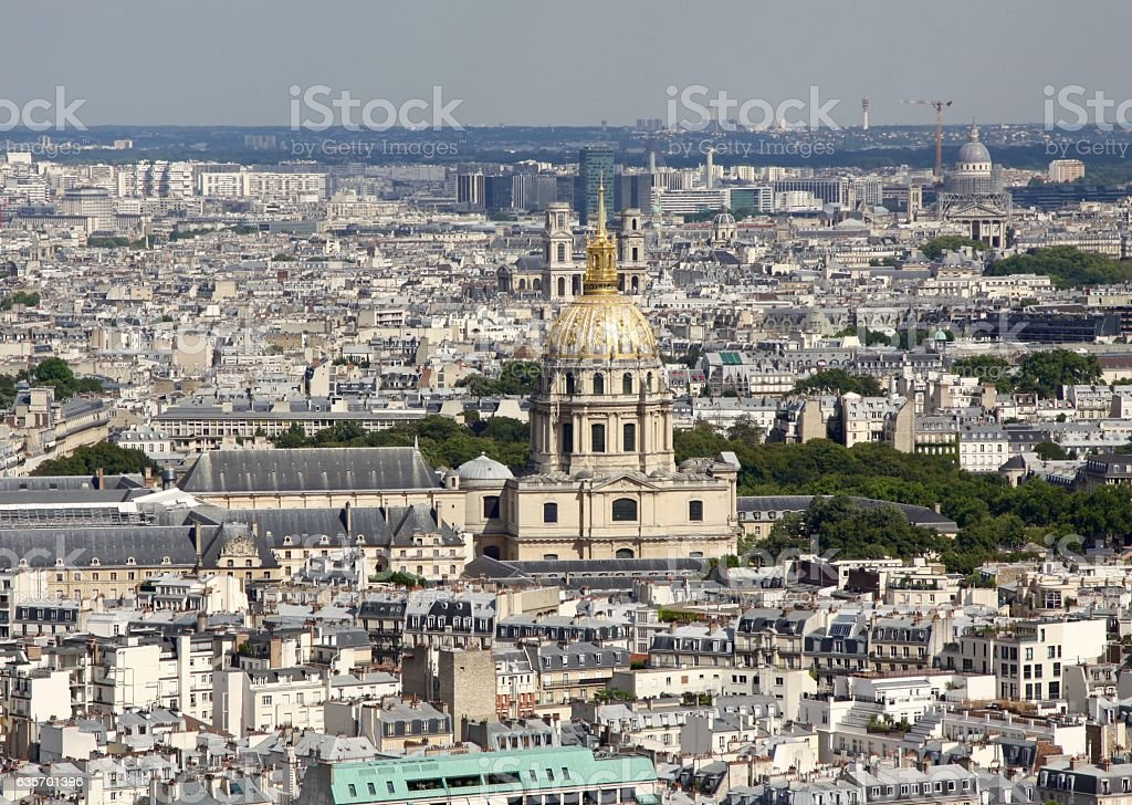 View Of Paris Looking West From The Eiffel Tower royalty-free stock photo