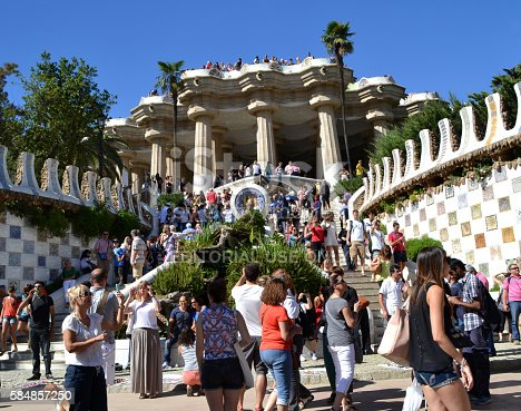 istock View of Park Guell in Barcelona, Spain 584857250