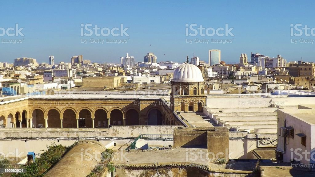 View Of Part Of The Alzaytuna Mosque And The Skyline Of Tunis Tunisia Stock Photo Download Image Now Istock