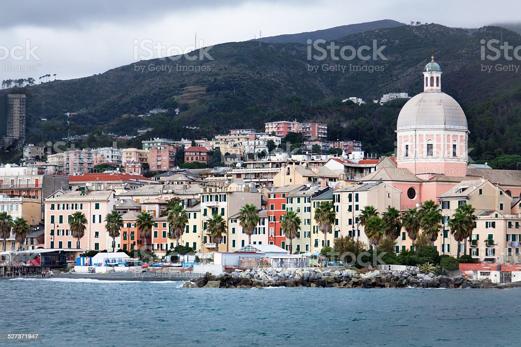 View of Pegli - Genoa (IT) stock photo