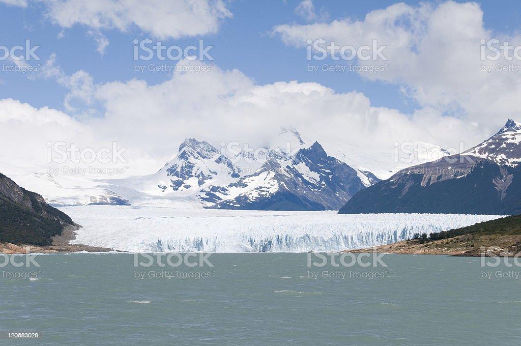 View of Perito Merino Glacier, Argentina stock photo