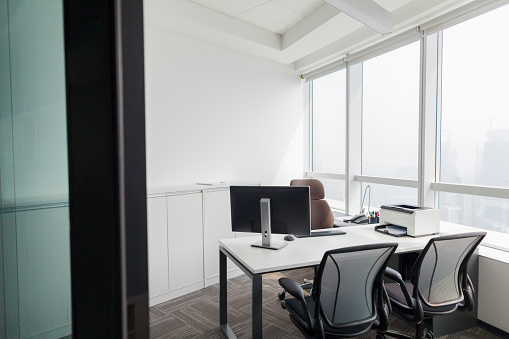 View of personal office space