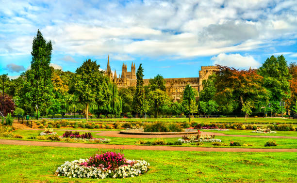 Blick auf die Peterborough Cathedral in England – Foto