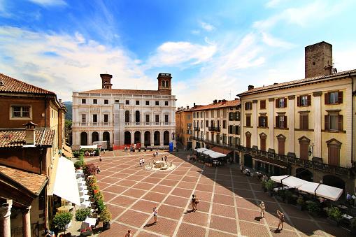 View of piazza Vecchia, Bergamo