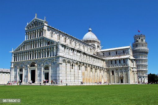 A view of Pisa Cathedral and the Leaning Tower