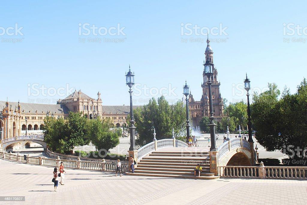 View of Plaza the Espana in Sevilla royalty-free stock photo