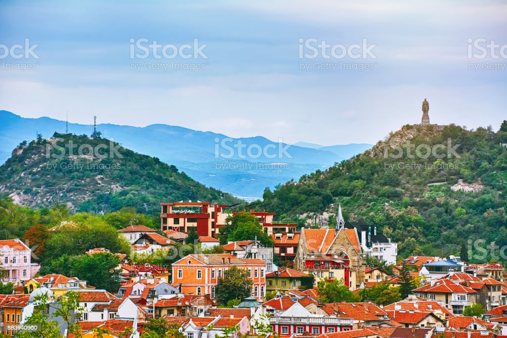 View of Plovdiv stock photo