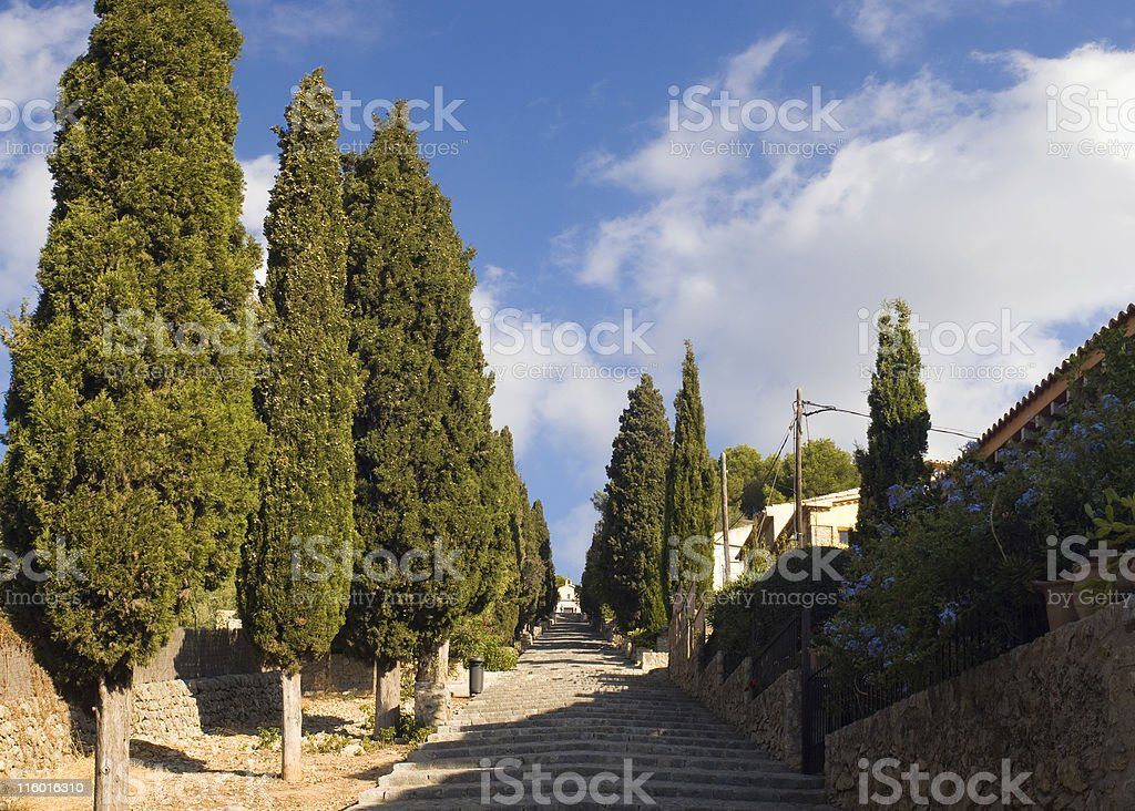 View of Pollensa steps. royalty-free stock photo