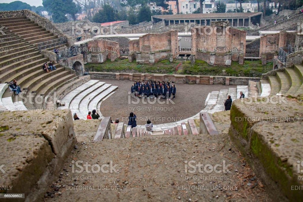 View of Pompeii in winter, Rome, Italy стоковое фото