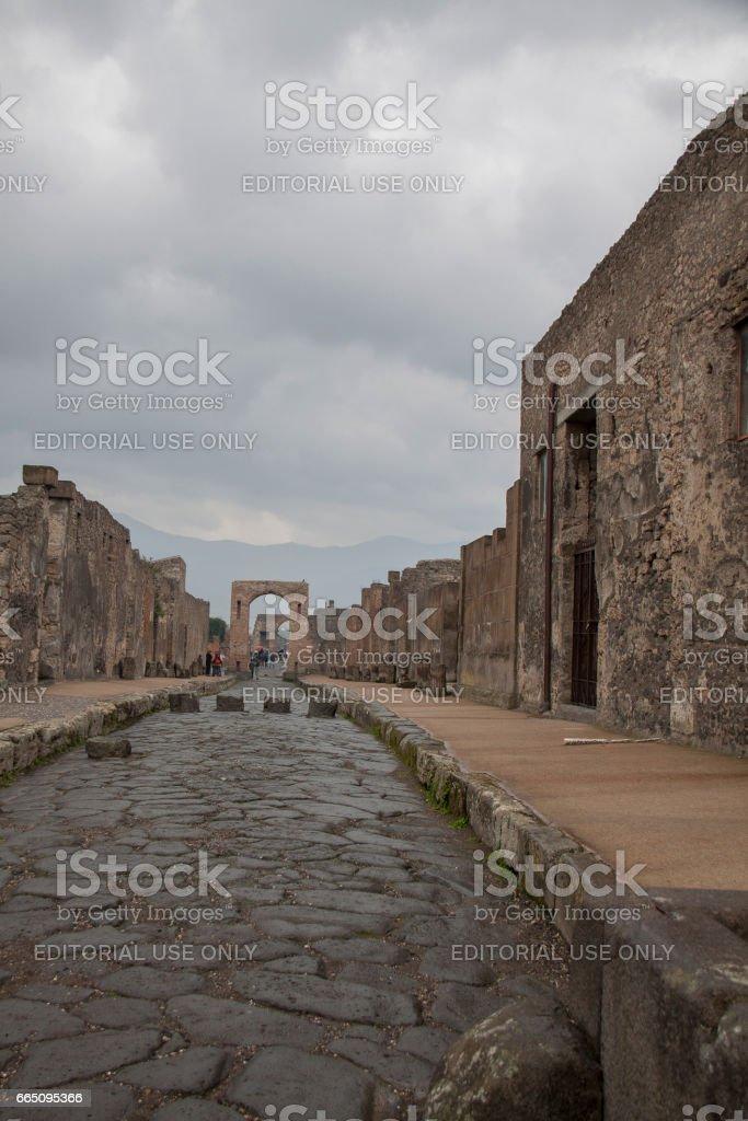 View of Pompeii, Italy стоковое фото