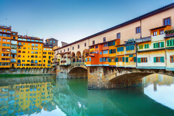 View of Ponte Vecchio. Florence, Italy View of Ponte Vecchio. Florence, Italy florence italy stock pictures, royalty-free photos & images