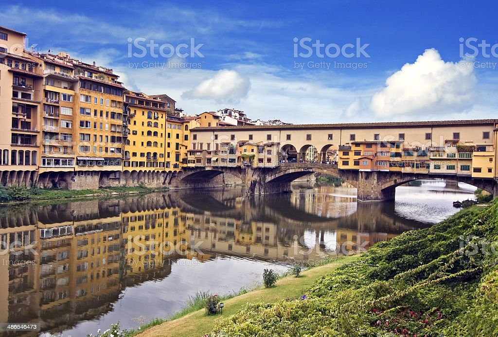 view of ponte vecchio - florence stock photo