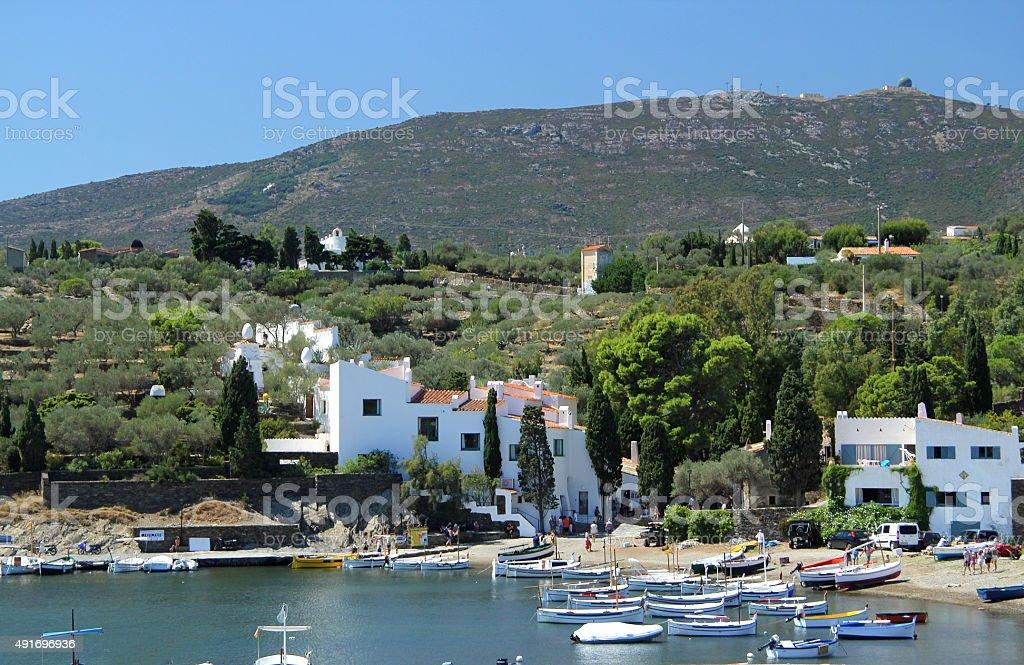 view of Port LLigat, Cadaques, Costa Brava, Girona stock photo