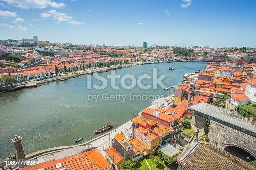 View of Porto from the bridge of Ponte di Don Luis I