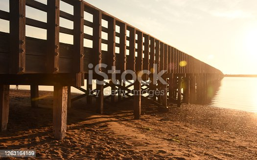istock View of Powder Point Bridge at the Golden Hour in Duxbury 1263164159