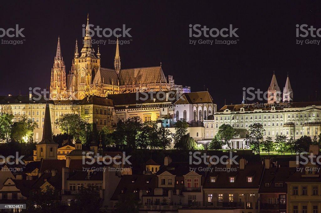 View of Prague Castle (Prazsky hrad) - Czech republic royalty-free stock photo