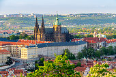 istock View of Prague Castle with St. Vitus Cathedral, Czech Republic 533351332