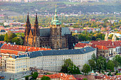 istock View of Prague Castle with St. Vitus Cathedral, Czech Republic 540487600