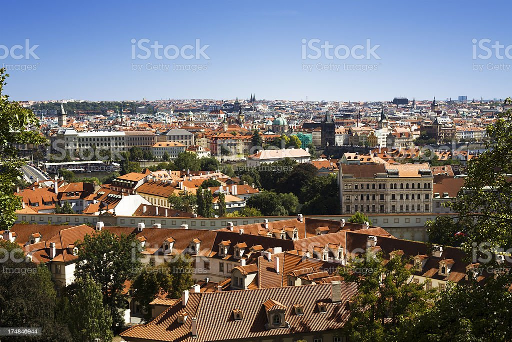 View of Prague from the castle royalty-free stock photo