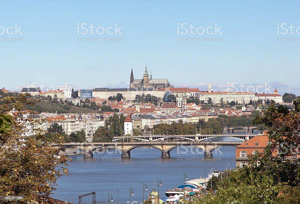 View of Prague from the observation deck. Visegrad. Prague. Czech Republic. stock photo