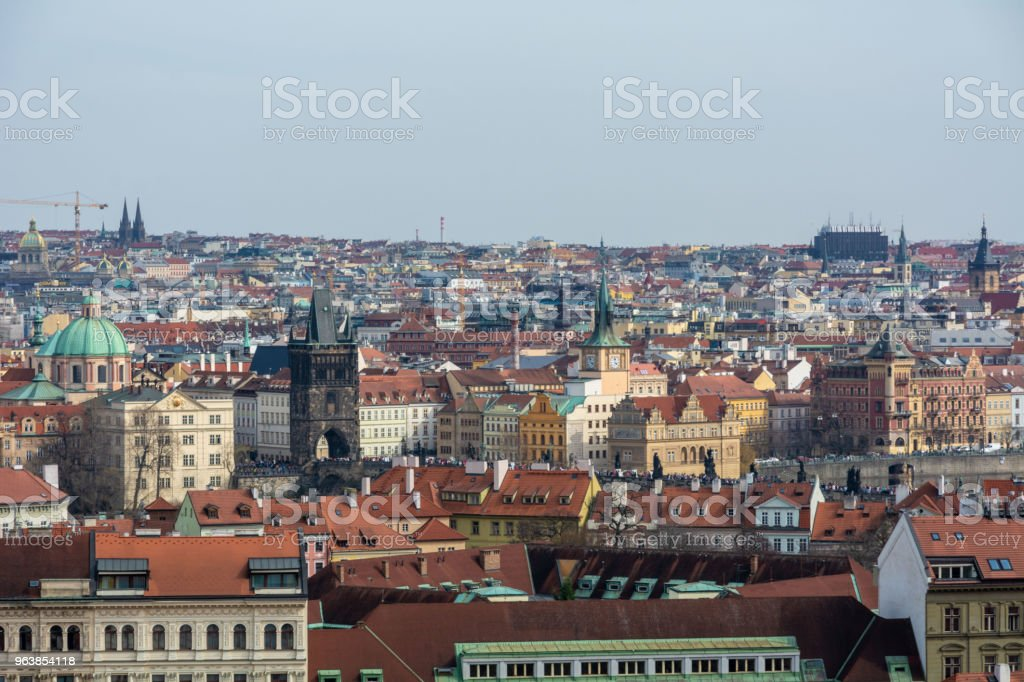 View of Prague - Royalty-free Blue Stock Photo
